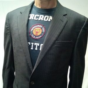 New extra large chaps Blazer muted pinstripe 44 L